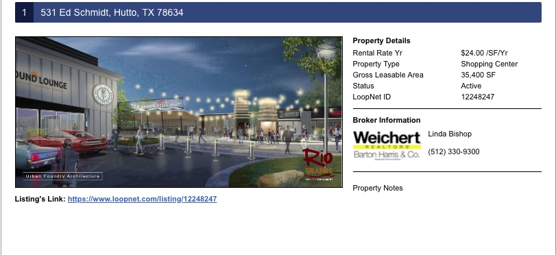 hutto commercial real estate